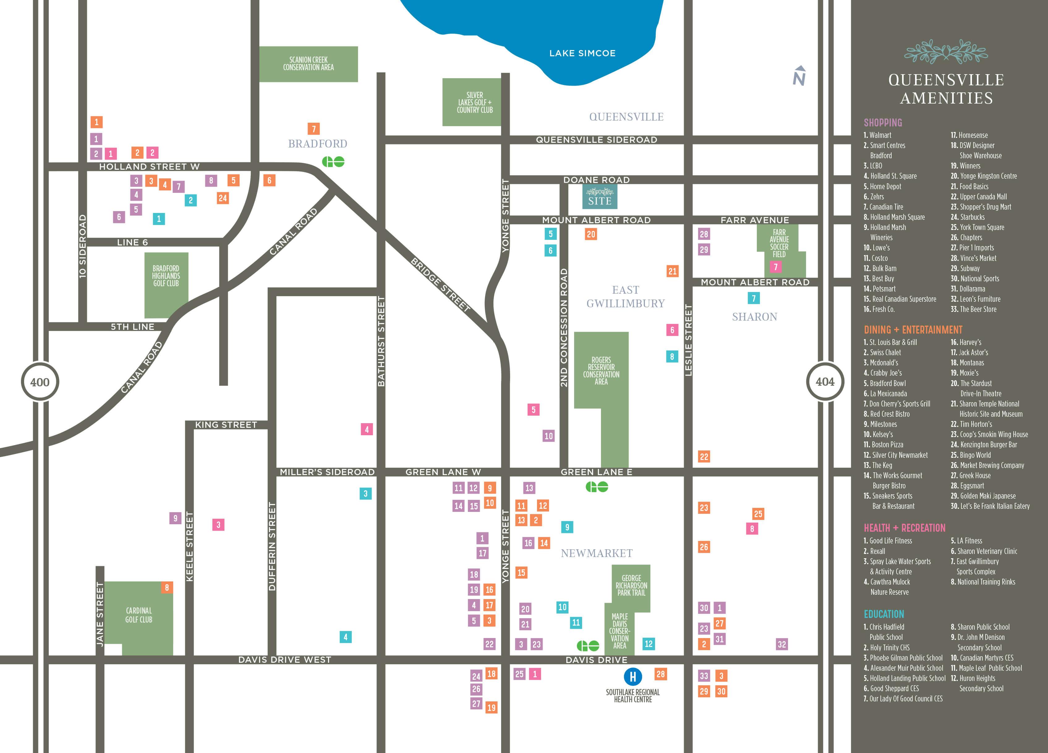 Elizabeth Heights Amenities Map