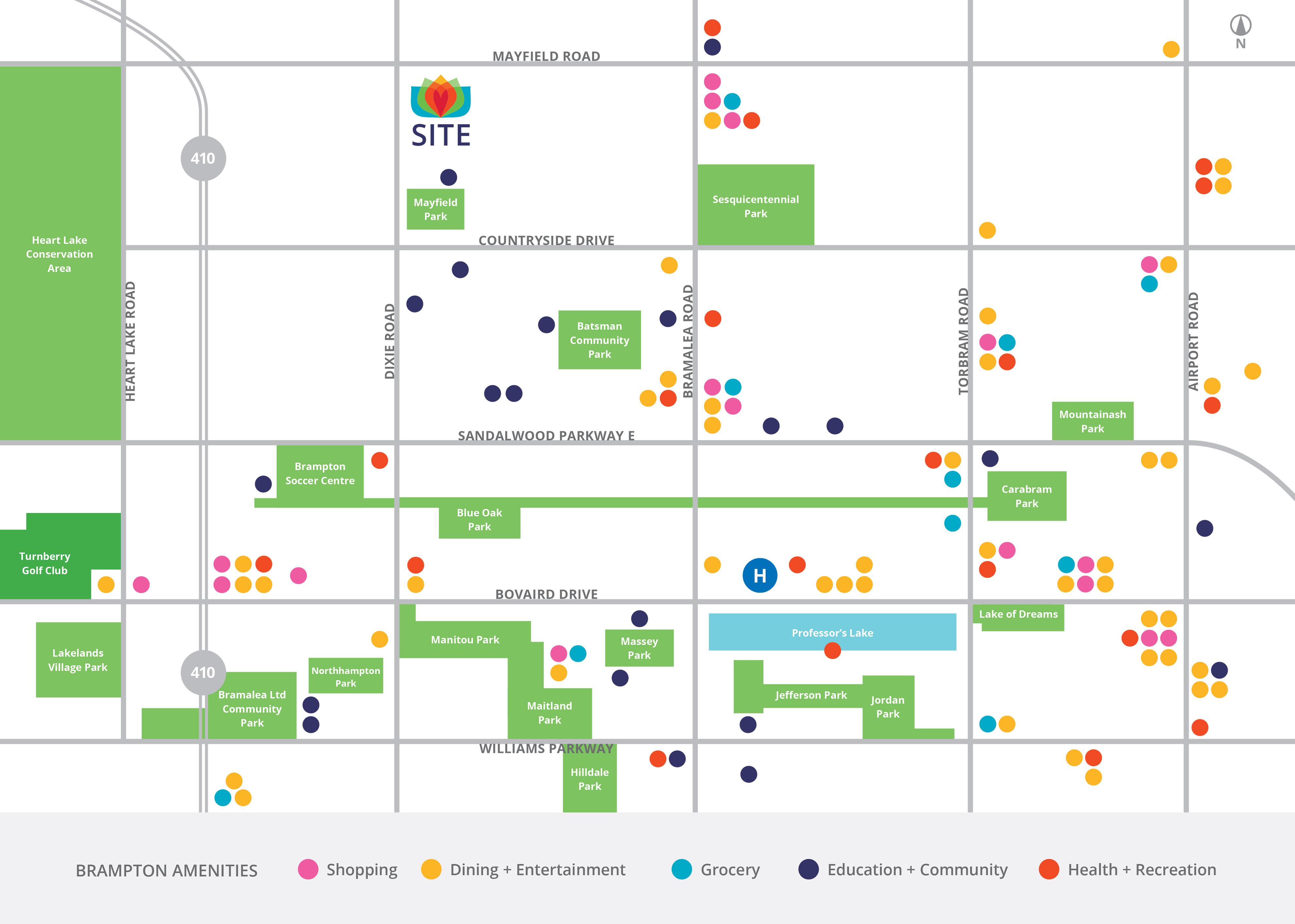 Mayfield Village Amenities Map