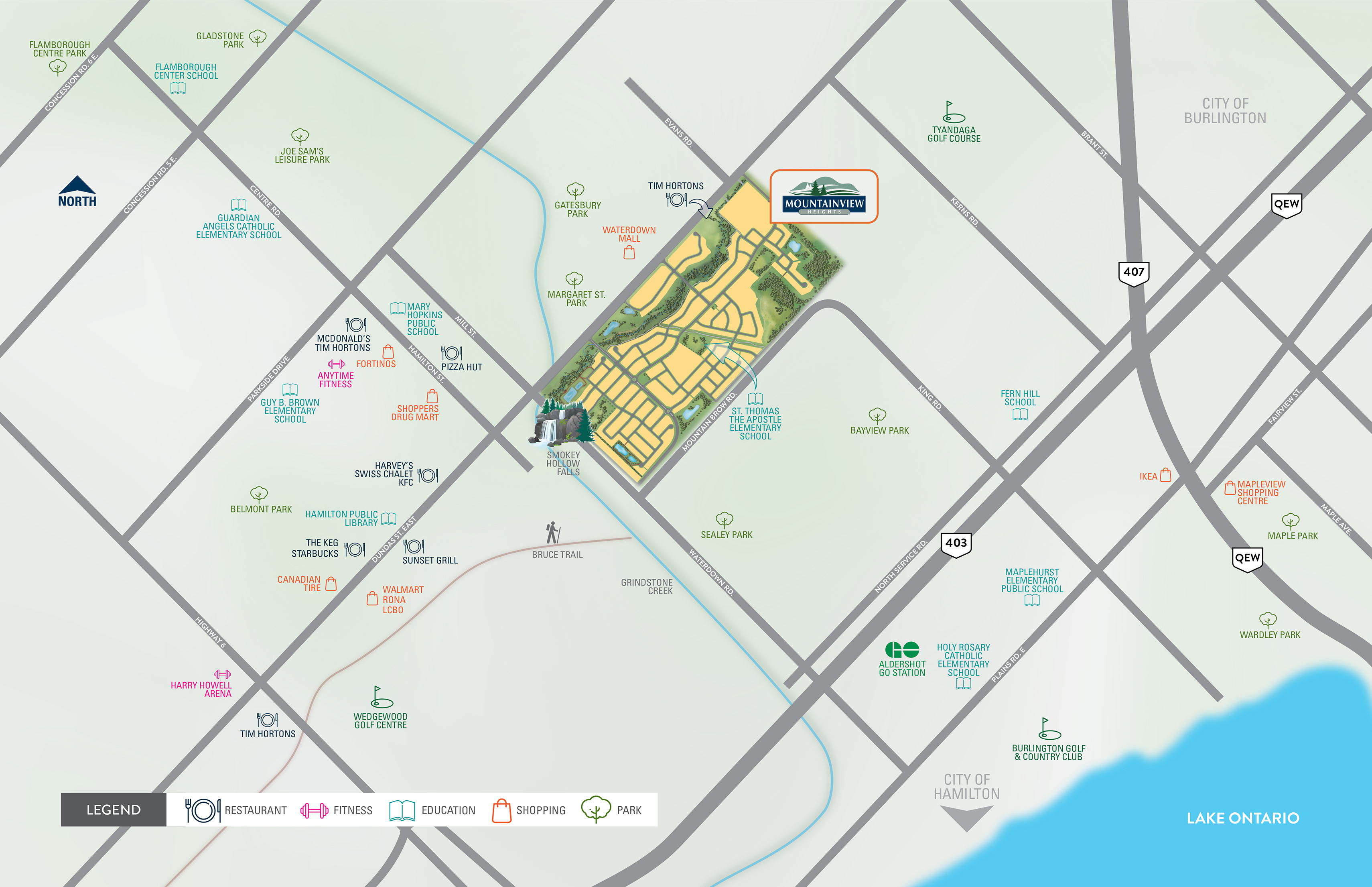 Mountainview Heights Amenities Map