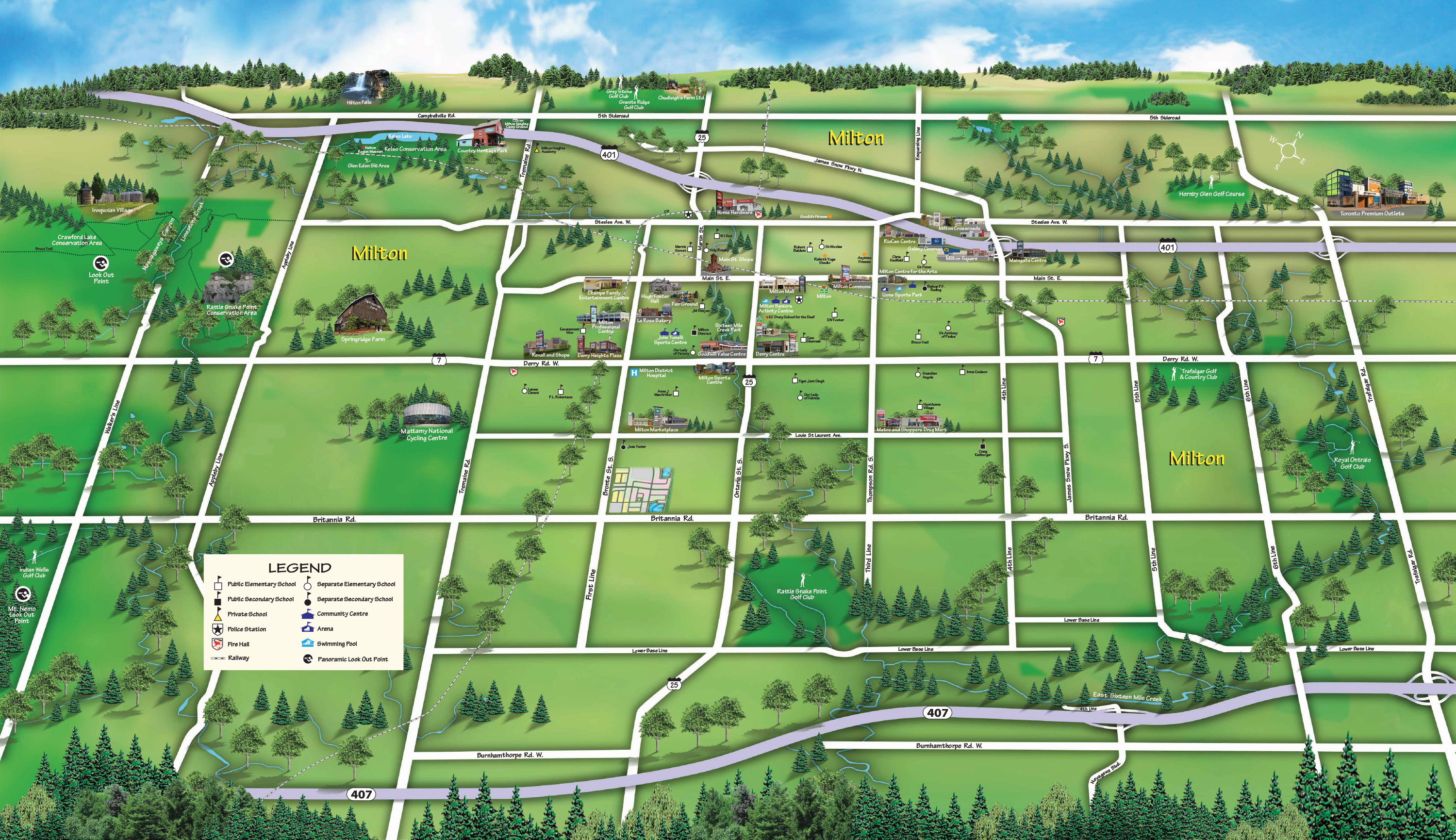 Saddle Ridge Amenities Map