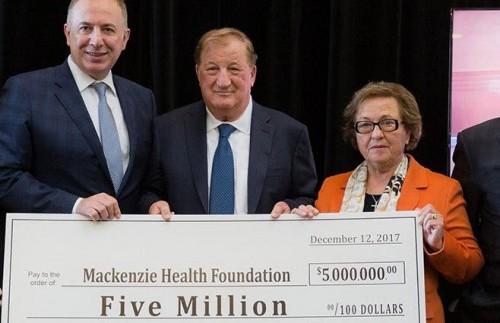 $5 Million Dollar Donation to Mackenzie Health Hospital
