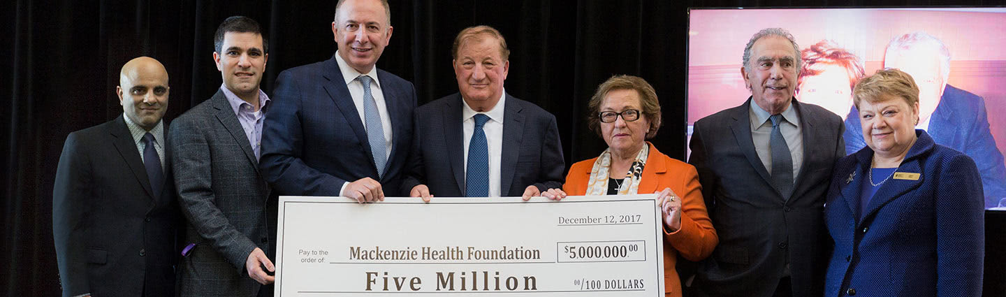 $5 Million Dollar Donation to Mackenzie Health Hospital